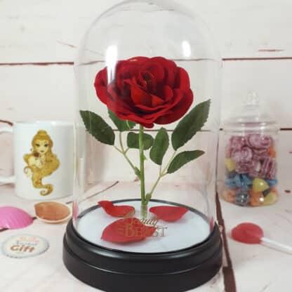 Lampe veilleuse Disney La Belle et La Bête - Rose enchantée