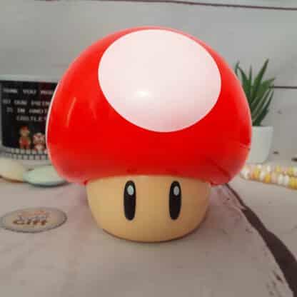 Lampe veilleuse sonore Mario Bros - Champignon