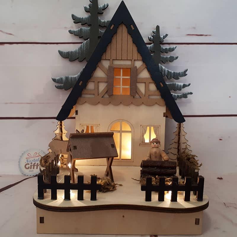 Veilleuse - Maison dans les bois - Décoration de noël