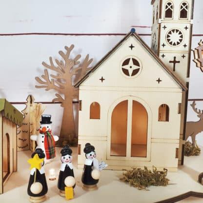Veilleuse - Village de Noël - Décoration de noël