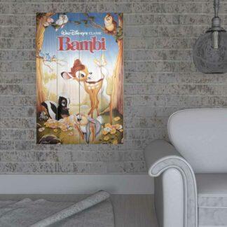 Disney Bambi - Décoration murale sur bois (59x40 cm)