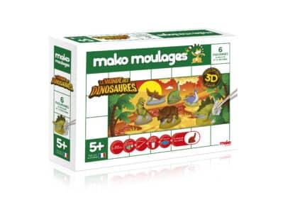 Mako moulages Le MONDE DES DINOSAURES - Ensemble - 6 moules