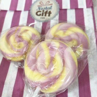 Bonbon gros coeur rose brillant x10