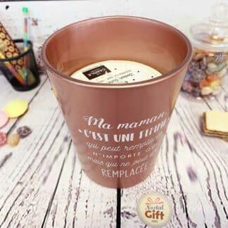Maman - Bougie vase jar 15 cm