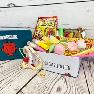 """Coffret Cadeau : Bonbons des années 70 """"Monsieur Madame"""""""
