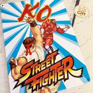 Street Fighter - Plaque en métal KO Ryu