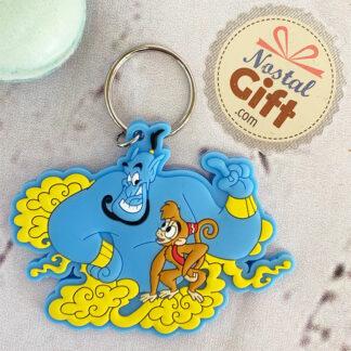 Porte clés Disney Aladdin - Le Génie et Abu