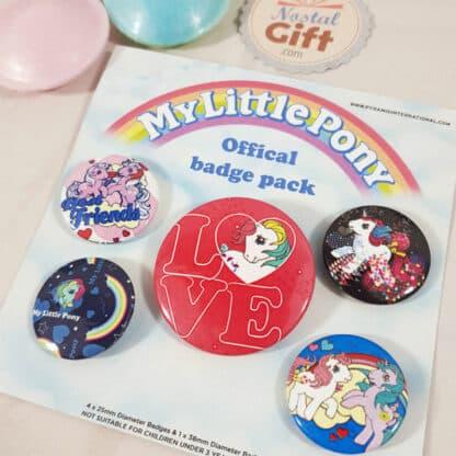 Mon Petit Poney - Set de 5 badges rétro