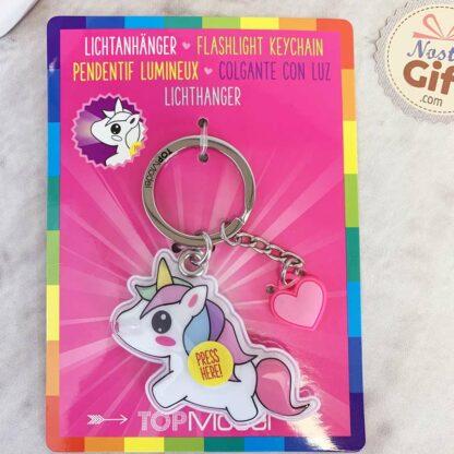Porte clés lumineux - licorne