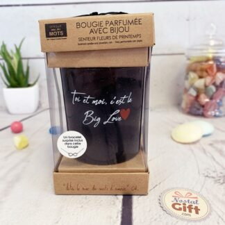 """Bougie + Bijoux surprise """"Toi et moi, c'est le Big Love"""""""