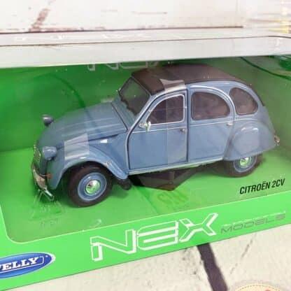 Miniature voiture Citroën 2 CV Bleu (échelle 1:24)