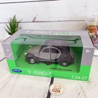 Miniature voiture Citroën 2 CV Charleston Grise (échelle 1:24)