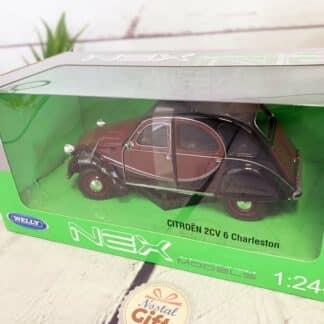Miniature voiture Citroën 2 CV 6 Charleston Rouge (échelle 1:24)
