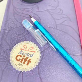 Crayon pousse mine Bleu avec Paillettes