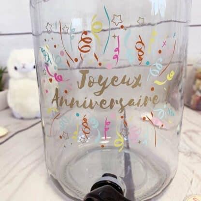 """Fontaine à boisson 3,5L """"Joyeux anniversaire"""""""