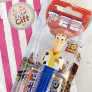 Pez Toy Story : Woody, Buzz, Bayonne(Cochon), Bo Peep (la Bergère), Zig Zag (le chien)