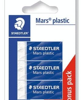 Trio gomme blanche haute qualité Mars - Staedtler