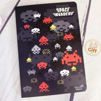 Carnet ligné Space Invaders