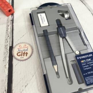 Compas en métal avec sa boîte et sa gomme - Staedtler