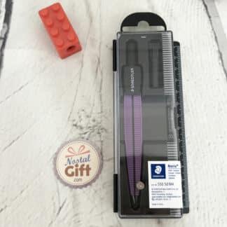 Compas en métal Noris violet avec sa boîte et mine - Staedtler