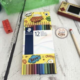 12 crayons de couleur hexagonaux Comic - Staedtler