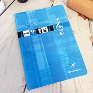 Cahier de musique 10 portées 17x22 avec 48 pages - Clairefontaine