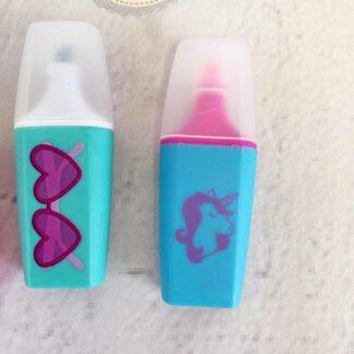 Lot de 3 mini surligneurs fluorescent