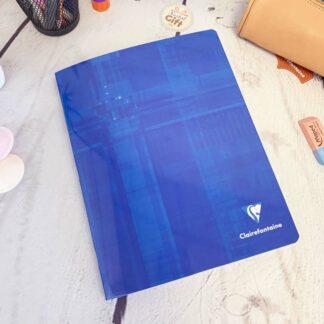 Cahier A4 couverture pellicullée avec 96 pages & Gros carreaux (séyès) - Clairefontaine