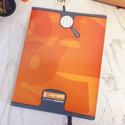 Cahier couverture pelliculée 17x22 avec 96 pages & Gros carreaux (séyès) - Calligraphe
