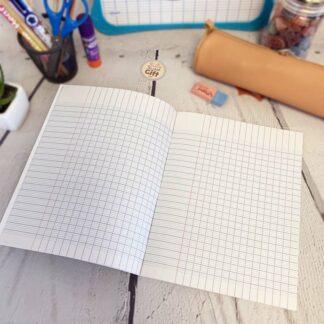Cahier de brouillon 100% Papier recyclé 17x22 avec 100 pages & Gros carreaux (séyès)  - Calligraphe