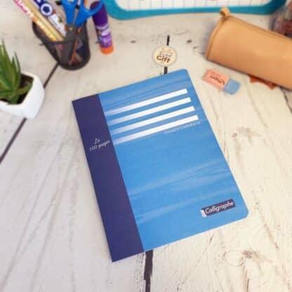 Cahier de brouillon 17x22 avec 100 pages Gros carreaux (séyès) - Calligraphe