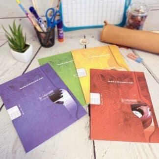 Cahier de musique avec 8 portées 17x22 avec 48 pages - Calligraphe