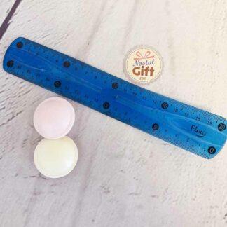 Règle flexible bleue 20 cm