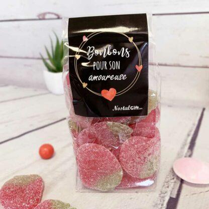 Sachet de bonbon coeur en guimauve x40 - My Love