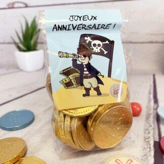 Sachet de bonbons - Collier de bonbons x4 & de Lollies x10 - Joyeux Anniversaire Pirate