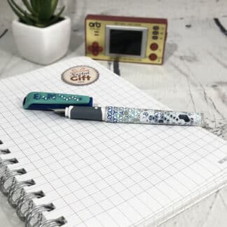 Stylo plume bleu&vert pointe iridium - Maped