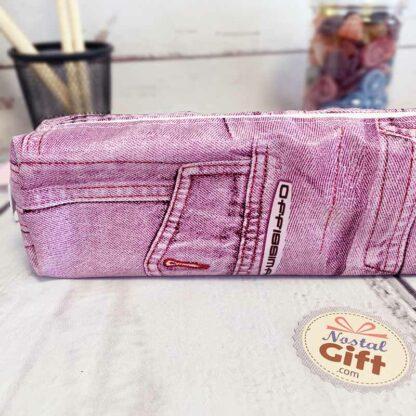 Trousse stylée jean rose