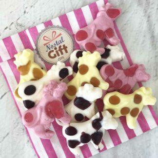 Bonbon vache gélifié aux fruits x 10