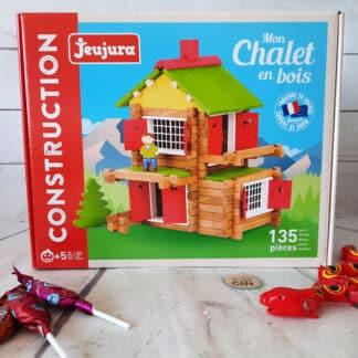 Jeux de construction mon chalet en bois (135 pièces)