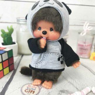 Peluche Monchhichi Kiki Panda (20 cm)