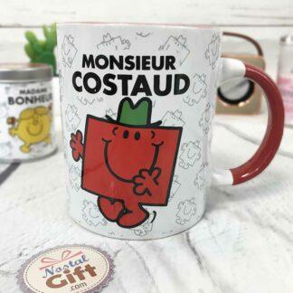 Mug M.Costaud rouge - Monsieur Madame