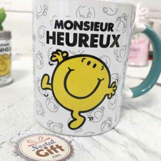 Mug M. Heureux Turquoise - Monsieur Madame