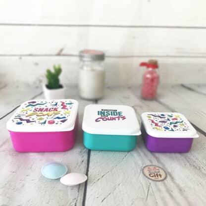 Set de 3 boîtes à déjeuner - Design 80's
