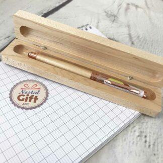 Stylo Roller en bois d'érable avec étui - Modèle Arty (Oberthur)