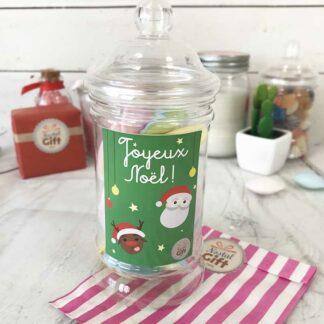 Petite bonbonnière de Noël - Bonbons soucoupes à la poudre
