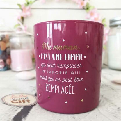 """Bougie + Bracelet surprise inclus """"Ma maman ... ne peut être remplacée"""""""