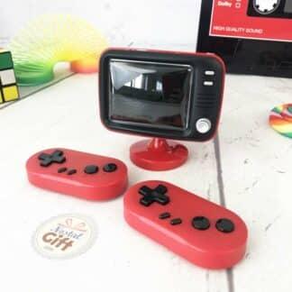Mini tv console et ses 2 manettes de jeu retrogaming