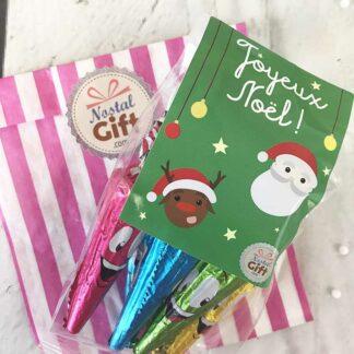 Sachet de Noël - Parapluies pétillants au chocolat x6