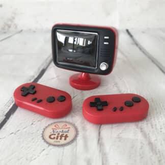 Machine Jeu Arcade Table - Manette filaire, câble TV et chargeur USB inclus
