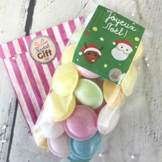 Sachet de bonbons de Noël - Bonhomme de neige et flocon de neige en guimauve x 20